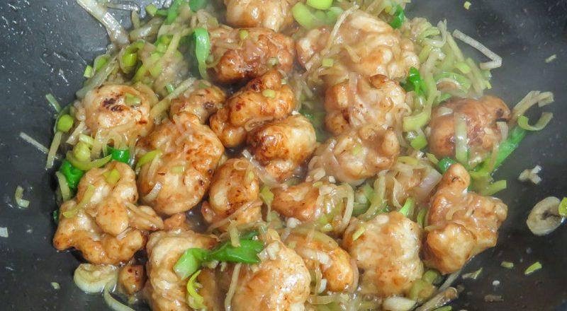 Курица с имбирем и соевым соусом. Рецепт и фото
