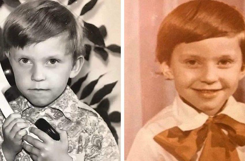 Мальчик на фото был очень застенчив, не знал отца, а бабушку называл своей мамой. Сегодня его боготворят миллионы женщин. Узнали, кто это?