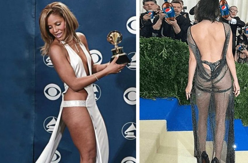 «Невод вместо платья»: знаменитости, которые сэкономили на ткани своих нарядов