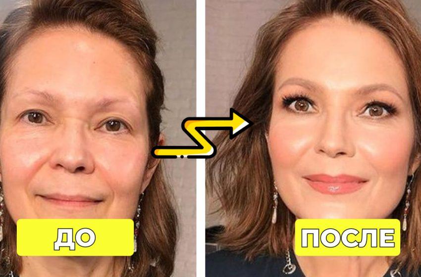 «Стирает с женских лиц пару десятков лет»: 10 примеров невероятных результатов омолаживающего макияжа